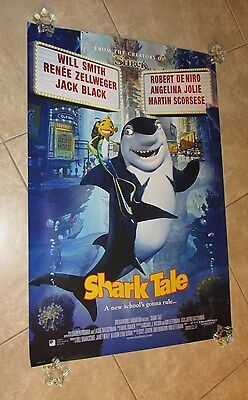 SHARK TALE movie poster ANGELINA JOLIE poster, fish poster, WILL SMITH