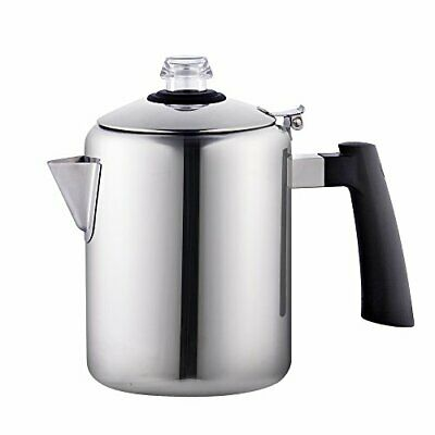 Cook N Home 8-Cup Stainless Steel Stovetop Coffee Percolator Pot Kettle Tea