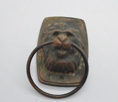 Post medieval period lion shaped knocker. 18 Century