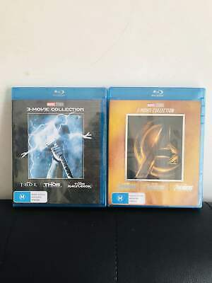 The Avengers 1-3 Trilogy & Thor 1-3 Trilogy Dvd Collections (DVD Box Set) NEW