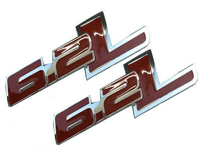 2x Red Glossy SS Emblems Metal Sticker 3D For Camaro Chevrolet GM series SS FU