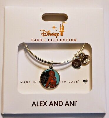 Disney Parks ALEX & ANI bracelet MOANA The Ocean Connects Us - silver tone - NEW