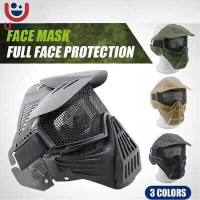 Tactical Airsoft Full Face Protection Safety Mask Guard High Quality New