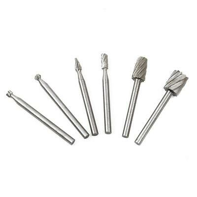 6x HSS Routing Router Grinding Bits Burr Speed Kit For Rotary Dremel Cutter YI