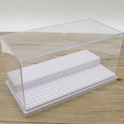 New 1pc 2 Step Clear Display Case Acrylic Plastic Base Box for Lego Minifigures