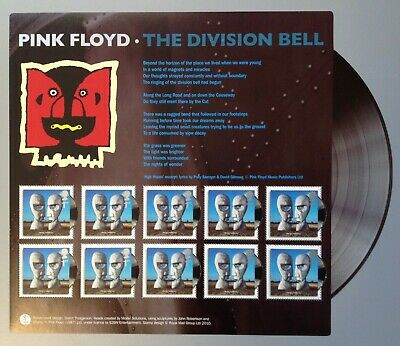 Gb, Sg3014 Mini Sht. Pink Floyd, Division Bell. Issued 6-3-2010