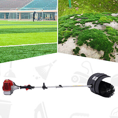 Hand Held Power Sweeper 2 Cycle Gas/Oil Mixture Nylon Brush Sweeping Gas Broom