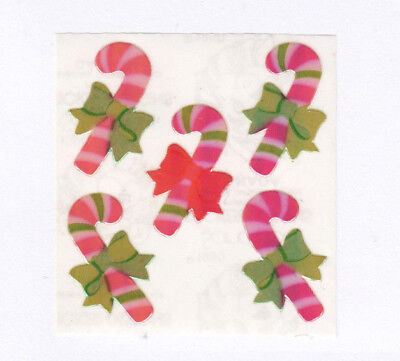 Vintage Sandylion Pearl Pearly Opal MOP Sticker Mod - Christmas Candycane Candy