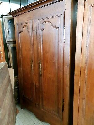 Antique Handmade 18Thc  Ancient French Walnut  Armoire Lovely Patina