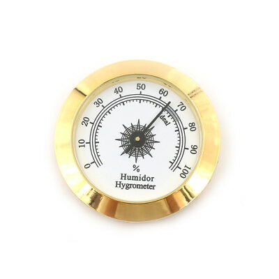 50mm Thermometer Cigar Hygrometer Monitor Meter Gauge Humidity Measuring Tool AS