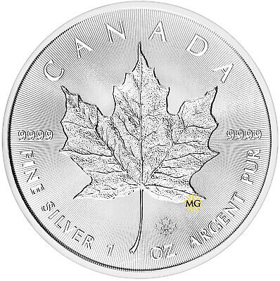 1 oz Fine Silver Bullion Coin 2019 Canadian Maple Leaf 5 Dollars
