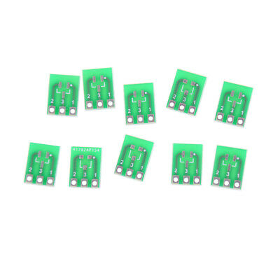 10pcs Double-Side SMD SOT23-3 to DIP SIP3 Adapter PCB Board DIY Converter AS