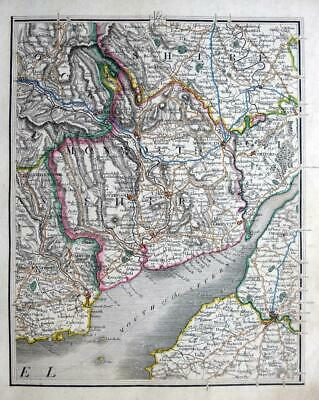 MONMOUTH  SOMERSET  BRISTOL CHEPSTOW  BY JOHN CARY GENUINE ANTIQUE MAP  c1824