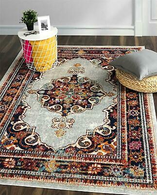 Multicolour Chelsea Floral Medallion Hallway Runner Rugs Carpets Long Area Mats