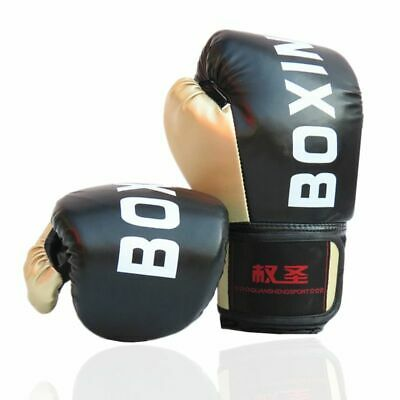 Leather Boxing Gloves Adults Kids Sports Exercise Training Box Kickboxing Pair
