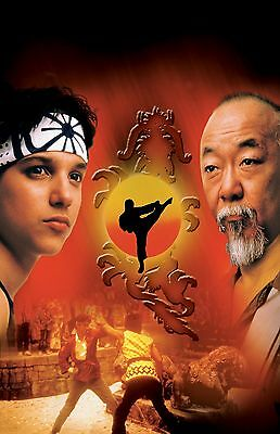 "The Karate Kid movie poster (b)  -  11"" x 17"" inches - Ralph Macchio, Pat Morita"