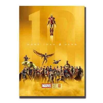 Art Poster Avengers infinity War Movie 10 Years Marvel Comics wall canvas 24x36