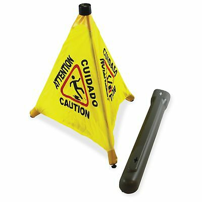 """Impact Products Pop Up 20"""" Safety Cone - 20"""" Height - Plastic - Yellow, Black"""