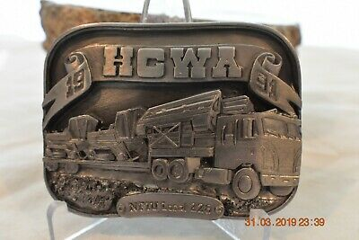 HCWA Belt Buckle Hesston Truck Driver 1991 Siskiyou Vintage Workers NOS Limited