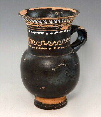 Greek Terracotta South Italian Thistle Cup (M374)