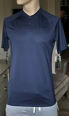 8d373899 Nike GOLF Momentum BLADE Fly Dri-fit POLO TEE Shirt Size M Navy 918678-