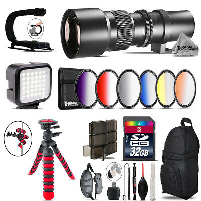 500mm Telephoto Lens for Nikon D5300 D5500 - Video Kit + Backpack - 32GB Kit