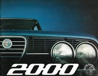 "Alfa Romeo ""2000"" Berlina - 1971 - French sales brochure, prospekte, folder"