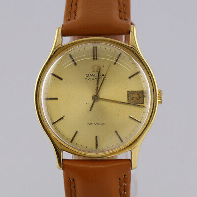 Vintage Omega 18ct Yellow Gold De Ville Automatic Gents Wristwatch