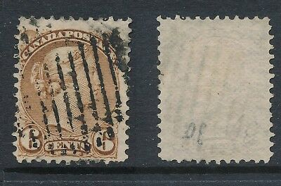 CANADA, 1870 6c yellow-brown (thin paper),Montreal Print, SG86, cat £23