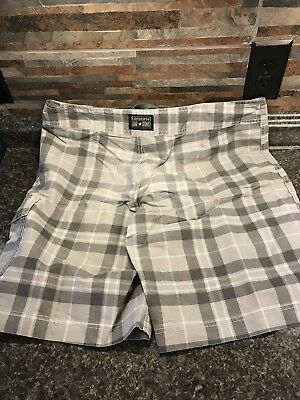 7491497c1c CONVERSE 1 STAR Mens Board Shorts Swim Trunks Gray/Yellow unlined ...