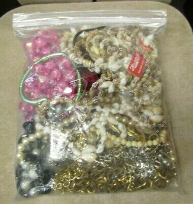 Bag Used Various Jewelry Shells Beads Crafts Supplies