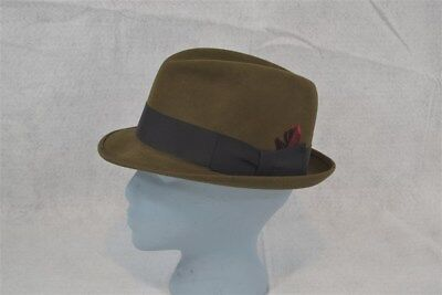 vintage  fedora hat Dobbs 5th Ave.  hat men brown sz 7 original vg