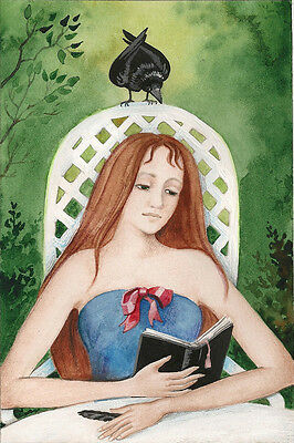 ACEO PRINT OF PAINTING RYTA CROW ILLUSTRATION GOTHIC PORTRAIT ANTIQUE STYLE