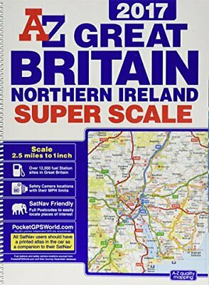 Great Britain Super Scale Road Atlas 2017 by Geographers A-Z Book The Cheap Fast