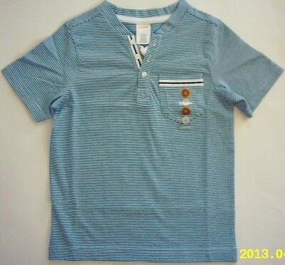 NWT Gymboree Denim and Tees Collection Stripe Henley Tee Shirt 4