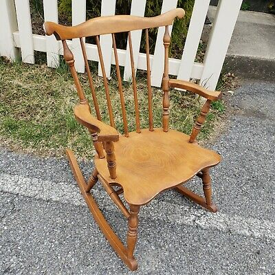 Tell City Windsor Solid Hard Rock Maple Andover Vintage Child's Rocking Chair