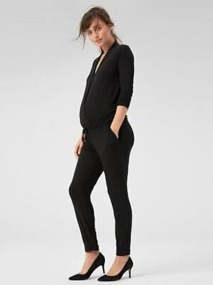 7ff5a76fba6 Isabel Maternity Womens Crossover Belted Romper Black Size Medium.  9.95  Buy It Now 24d 2h. See Details. Gap Maternity Long Sleeve Wrap Jumpsuit  Black M ...