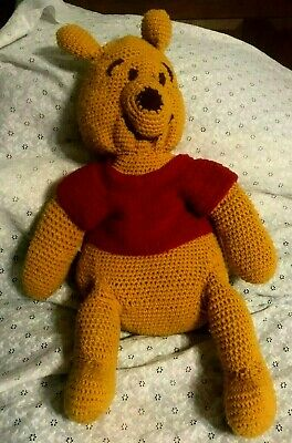 Vintage Huge Winnie The Pooh Crocheted Plushstuffed Doll 26 Inches