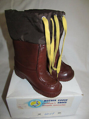 Vintage Mother Goose Shoes Snow Rain Fur Lined Toddler Boots Size 6 M Never Worn