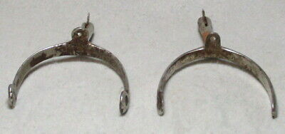 One Pair of Antique Vintage Steel and Nickel Plated Racing Spurs/ Small Size