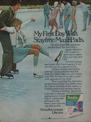 1993 Stayfree Maxi Pads Vintage Magazine Ad Pretty Blonde Woman Tossing Dice