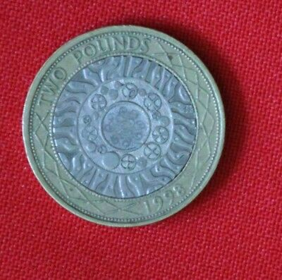 1998 circulated two pound £2 coin standing on the shoulders of giants wh02coinm