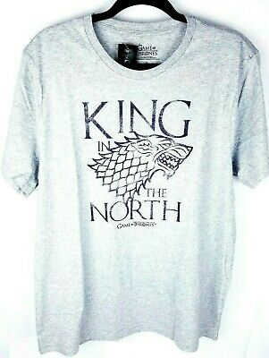 NWT Game Of Thrones KING IN THE NORTH Stark T-Shirt Licensed & Official XL Mens