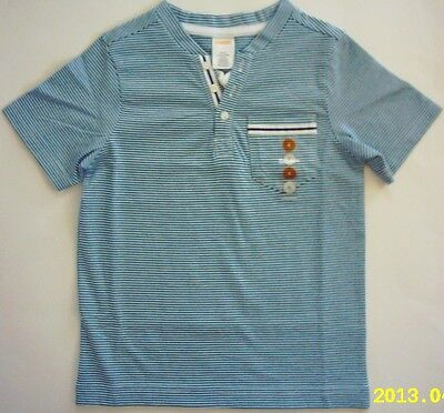 NWT Gymboree Denim and Tees Collection Stripe Henley Tee Shirt 5