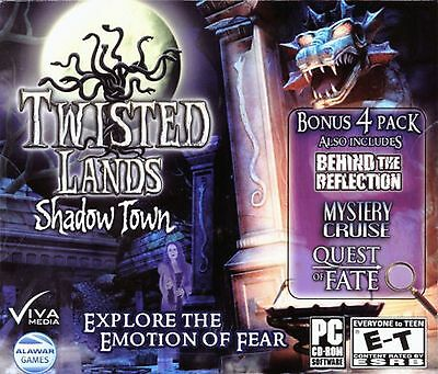 TWISTED LANDS SHADOW TOWN Hidden Object 4 PACK Viva Media PC Game NEW
