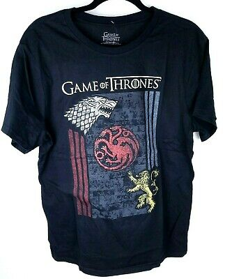 Game Of Thrones Stark Targaryen Lannister House Sigils T-Shirt NWT Licensed Lg