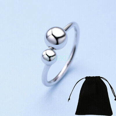 Stunning Sterling Silver Classic Adjustable Bead Midi Ring Women Wedding Gift