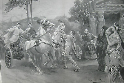 "1902 Large Antique Prints - London Theatre - ""Ulysees"", ""Ben-Hur"","" Francesca"""