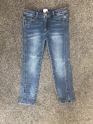 Girls size 7 Witchery, stretch straight leg, cropped jeans, adjustable