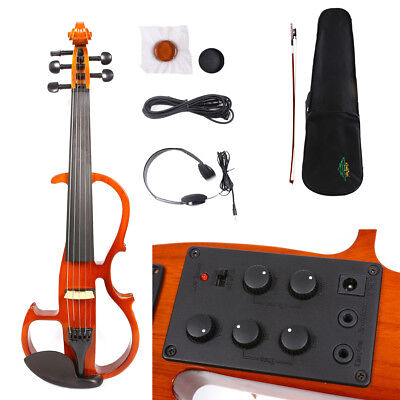 Yinfente 5string 4/4 Electric Violin Silent Reverberation Pickup Professional